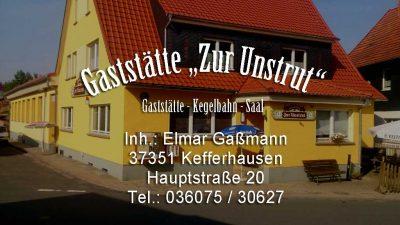"""Gaststätte """"Zur Unstrut"""""""
