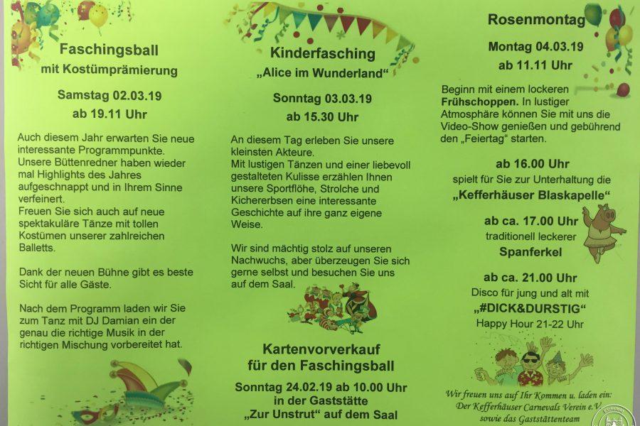 Karneval in Kefferhausen steht vor der Tür