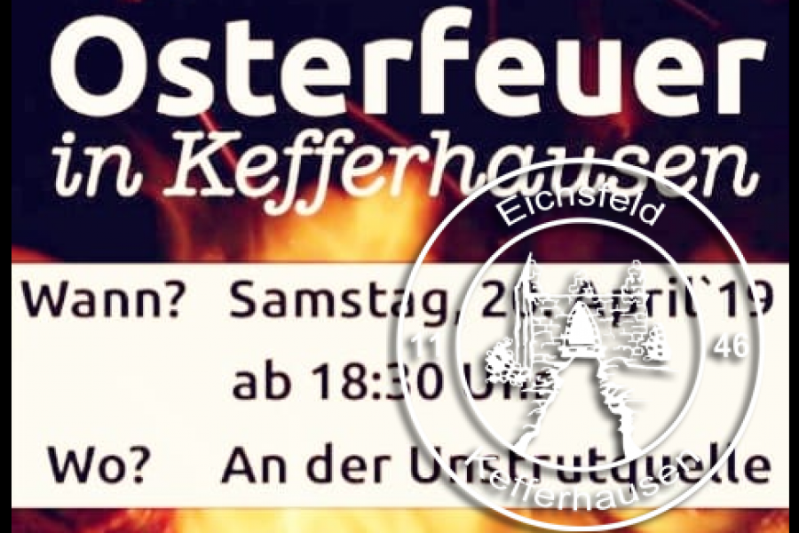 KIRMESVEREIN lädt zum Osterfeuer ein!